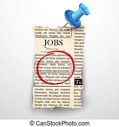újság, munka, bizalmas