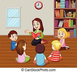 újságcikk hatásos, tanár, gyerekek, osztályterem