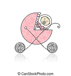 újszülött, tervezés, bricska, csecsemő, -e