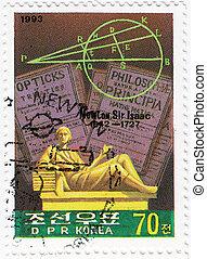 úr, 1993, korea, természetes, alkimista, theologian, :, fizikus, newton, -, évforduló, filozófus, csillagász, isaac, cirka, matematikus, angol