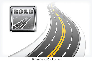 út, autóút, ikon