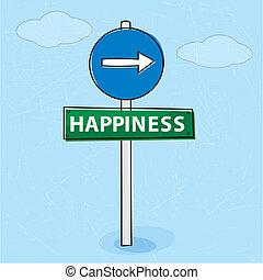 út, boldogság