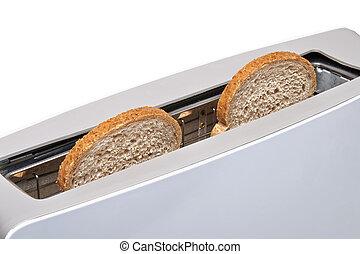 út, darabka, kenyérpirító, elszigetelt, klasszikus