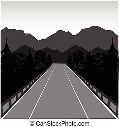 út, hegy