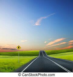 út, horizont
