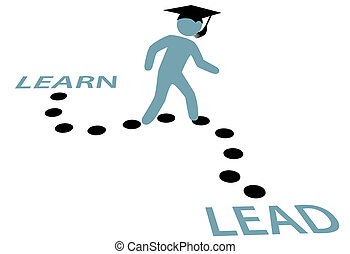 út, oktatás, fokozatokra osztás, ólom, tanul