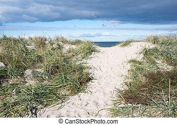 út, tengerpart, dánia