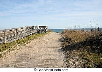 út, tengerpart