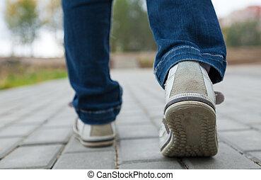 útburkolat, sport cipő, gyalogló