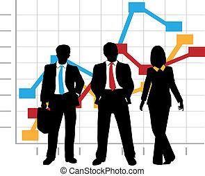 ügy, ábra, társaság, eladási diagram, növekedés, befog