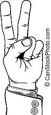 ügy, béke, két, kéz, diadal, illeszt, aláír, tapogat