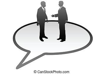ügy emberek, kommunikáció, belső, beszéd panama, beszél