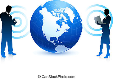 ügy, földgolyó, internet, drótnélküli távíró, háttér, befog