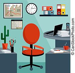 ügy felszerelés, objects., hivatal, ruhanemű, workplace