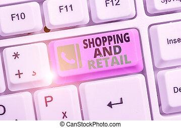 ügy, fogyasztó, kezezés írás, kiállítás, eladás, fogalmi, fénykép, retail., szöveg, ingóságok, szolgáltatás, customers., eljárás, bevásárlás