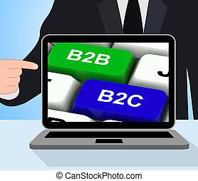 ügy, kulcsok, b2c, b2b, kitesz, rela, fogyasztó, vagy, kereskedelmi társaság