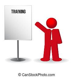 ügy, munka, megfricskáz, chart., személy, képzés, ember