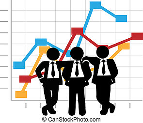 ügy, nyereség, ábra, férfiak, eladási diagram, növekedés, befog