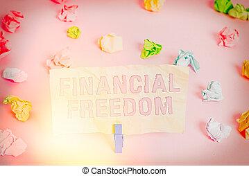 ügy, szabad, üres, fénykép, írás, gyűrött, színezett, birtoklás, hajópapírok, kiállítás, freedom., figyelmeztetés, készpénz, clothespin., azt, jön, amikor, pénz, anyagi, jegyzet, aggodalom, háttér, showcasing, emelet, folyik, rózsaszínű