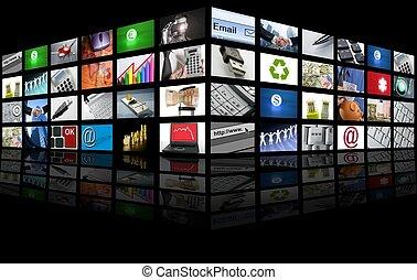 ügy, tv, nagy elrejt, internet, bizottság