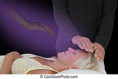 ülésszak, elősegít, gyógyulás, lelkileg