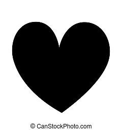 ünnep, icon., nap, black szív, kedves, dekoráció