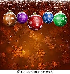 ünnep, köszönés, karácsony, kártya, piros