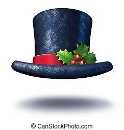 ünnep, kalap, tél