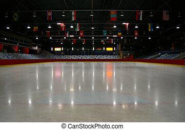 üres, jég, stadion