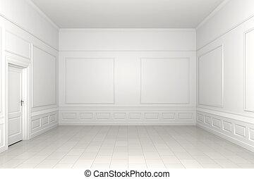 üres szoba, fehér