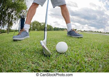 ütés, golfjátékos, előkészítő
