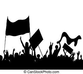 ütés, protesters, munkás, fellázad