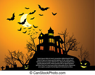 üt, kísértetjárta, mindenszentek napjának előestéje, épület, sütőtök