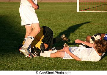 ütközés, futball