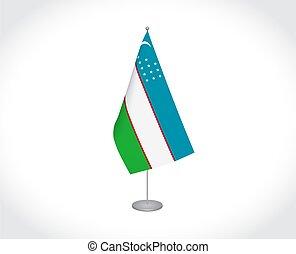 üzbegisztán, háttér, white lobogó