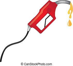 üzemanyagpumpa, piros