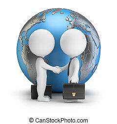 üzlet, emberek, globális, -, kicsi, 3