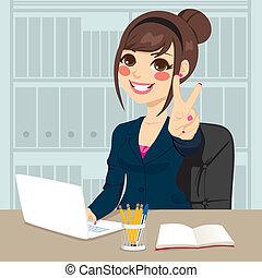 üzletasszony, munka hivatal