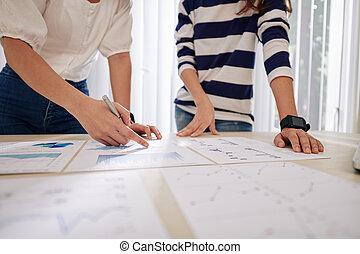 üzletasszony, tervezés, munka