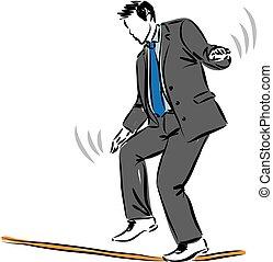 üzletember, ábra, bevétel, kockáztat, fogalom