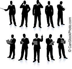 üzletember, árnykép, gyűjtés