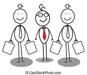 üzletember, csoport