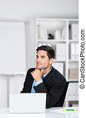 üzletember, figyelmes, hivatal