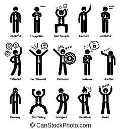 üzletember, helyzet, személyiség