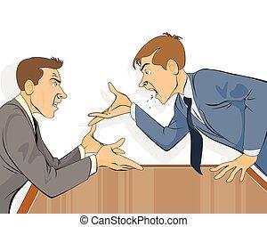 üzletember, hivatal, vita