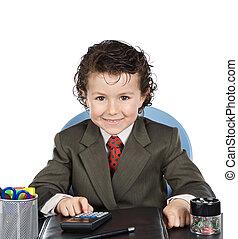 üzletember, jövő, imádnivaló, hivatal