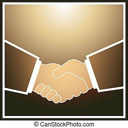 üzletember, kézfogás