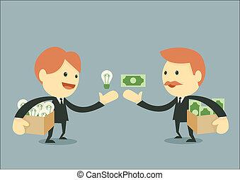 üzletember, kereskedés