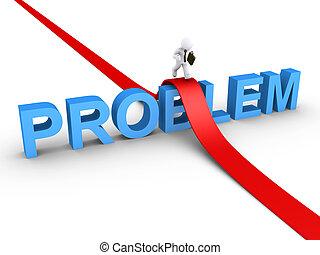 üzletember, probléma, legyőző