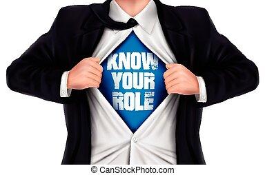 üzletember, szerep, ismer, -e, ing, kiállítás, övé, alul, szavak